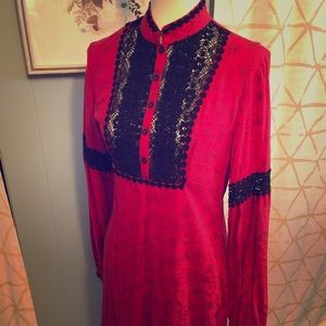 Free People Red Mock Neck Dress